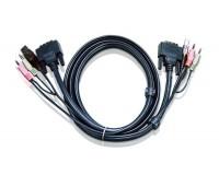 ATEN 2L-7D02U USB DVI-D Single Link KVM Cable 1,8m
