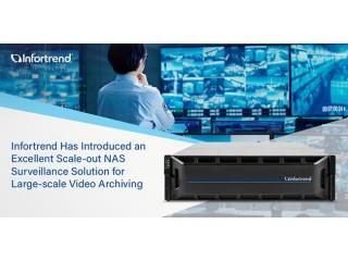 Infortrend представила превосходный кластер NAS для крупных архивов систем видеонаблюдения
