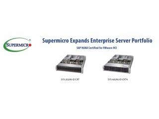 Supermicro расширяет корпоративные серверные решения на базе SAP HANA для гиперконвергентной инфраструктуры VMware (HCI)